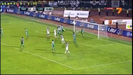 Квалификационен мач-реванш от Шампионската лига--партизан 0:1 Лудогорец ( Златински 88