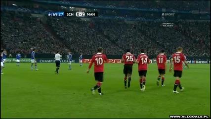 26.04.2011 - Шампионска лига - Шалке 04 0-2 Манчестър Юнайтед гол на Уейн Рууни