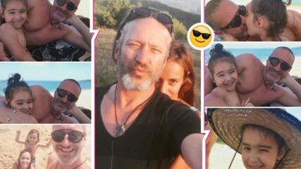 С деца на море: Деян Донков и Радина с ранна лятна ваканция