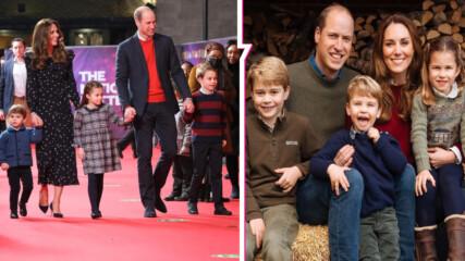 Кейт, Уилям и трите им деца с умилителна коледна снимка