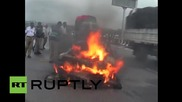 India: Porsche 911 bursts into flames following high-speed crash