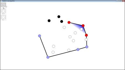 """№15481 - Алгоритъм """"сканиране на Греъм"""" за намиране на изпъкнала обвивка"""
