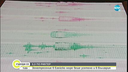 Силен трус в Егейско море беше усетен и в България