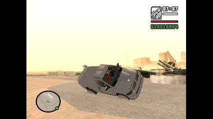 Gta San Andreas--- Бъг на две гуми с джип