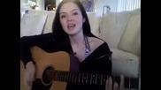 Момиче Пее Повече От Перфектно Песента на Rihanna-Umbrella