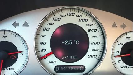 500к.с! Mercedes E55 Amg .. 0 - 200 км!