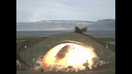 Взривяване на самолет в бункер