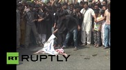 Pakistan: US and Israeli flags burnt in pro-Palestine protest in Karachi