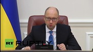 Ukraine: PM Yatsenyuk announces fresh sanctions against Russia