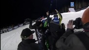 - ще ви изуми !! Hевероятен скок ! Winter X Games 2012 First Snowmobile Front Flip Landed