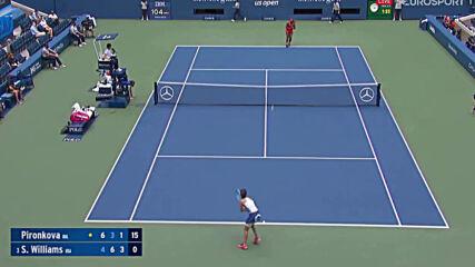 Serena Williams vs Tsvetana Pironkova .. Match Highlights .. Us Open Qf