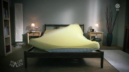 Блондинка си застила леглото, но. . .! Смях!