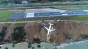 НА КОСЪМ ОТ ТРАГЕДИЯ: Пътнически самолет спря малко преди да падне в Черно море