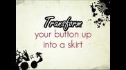 Как да си направим от риза интересна пола