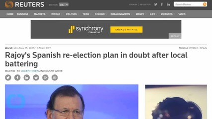 Rajoy's Spanish Re-election Plan May Be in Doubt