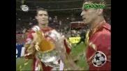 Връчването На Купата На Манчестър Юнайтед И Медалите На Челси 21.05.2008