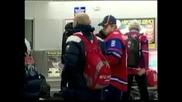 Свалиха от самолета световните шампиони по хокей от Русия