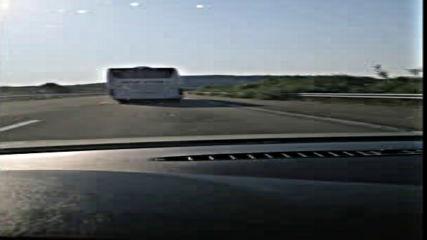 Безотговорно каране по магистрала