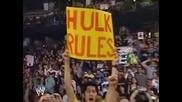 Wwe Raw 2005 John Cena Hulk Hogan And Shawn Michaels Vs Chris Jericho Tyson Tomko And Christian 2