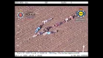 Деца направиха стрелка с телата си, за да помогнат за залавянето на бандити