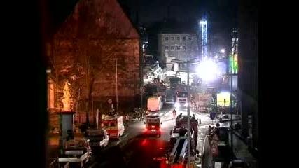 Сграда се срути в Германия