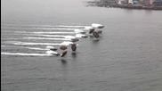 Американски морски пехотинци акостират на корейския бряг по време на амфибийна операция