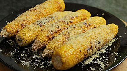 Чудна печена царевица с пармезан