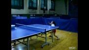 Момиче на 6 годинки се разцепва на тенис на маса