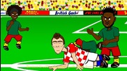 Alex Song S Elbow Cameroon v Croatia 0-4 by 442oons (world Cup Cartoon 18.6.14)