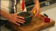 Лесен кекс с орехи, салата от патладжани и пълнени домати с ориз - Бон Апети (22.09.2014г.)