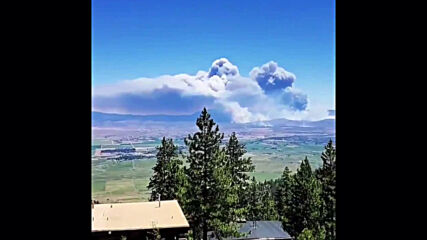 USA: Heavy smoke billows south of Carson City as fire engulfs almost 70sq km