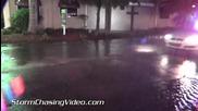 Среднощно наводнение в Сарасота, Флорида 26.9.2014