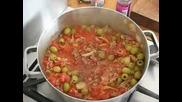 Спагети Болонезе с маслини - Рецепта