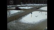 Брутални катастрофи в центъра на София, заснети от камерите за наблюдение - Акция 18.02.2008
