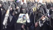 Yemen: Gun-toting women and children decry Saudi bombing