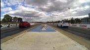 Audi Rs3 срещу Mercedes-amg A45 на драг пистата