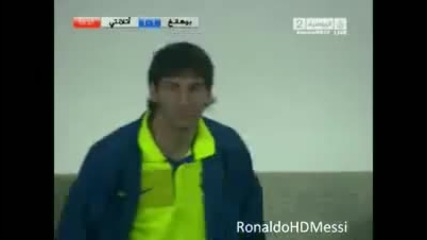Messi gives a slap in the head - Funny