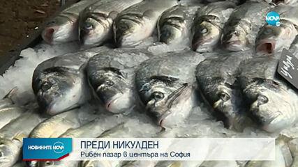 ПРЕДИ НИКУЛДЕН: Рибен пазар в центъра на София