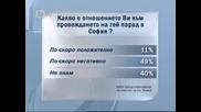 Повечето българи против гей парадите у нас