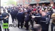 Арестите на демонстранти в Ню Йорк продължават