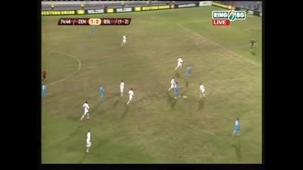 """""""Зенит"""" смаза """"Базел"""", но победи само с 1:0 и се сбогува с Лига Европа"""