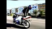 Луд Моторист Със Suzuki Gsxr