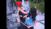 eva angelina doing a beer bong with nate