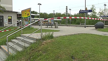 Germany: Flowers honour victim of stabbing at Grafing station