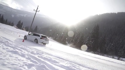 Зимен fun с Opel Insignia Opc 2014