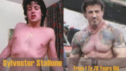 Силвестър Сталоун - от 1 до 70 год. Sylvester Stallone From 1 To 70 Year Old 2017