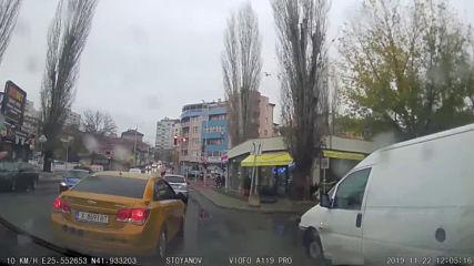Засичане на движението в Хасково