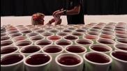 66 000 чаши с вода и 62 часа труд, а резултатът Вижте, за да се изумите