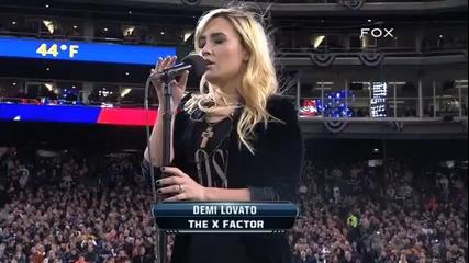 ( L I V E ) Деми Ловато изпълнява националния химн - [ 28.10.12]