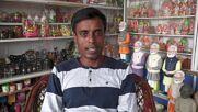 Indian sculptor makes piggy banks honouring PM Modi